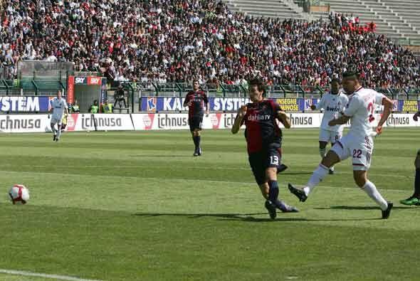 Borrielo abrió el marcador para el Milan.