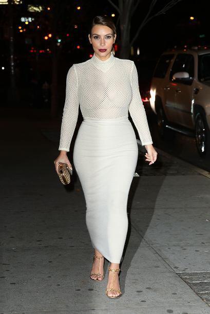 No todos los 'outfits'  que usó Kim Kardashian fueron los mejores del añ...