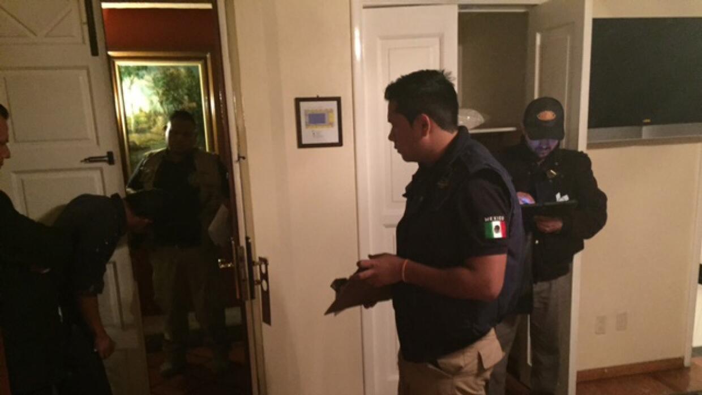 Las autoridades investigando tras el robo.