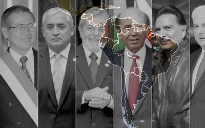 Corrupt Latin American presidents: (l to r) Fujimori, Perez Molina, Lula...