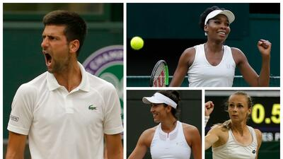 Wimbledon: Novak Djokovic avanzó a cuartos y ya hay semifinalistas