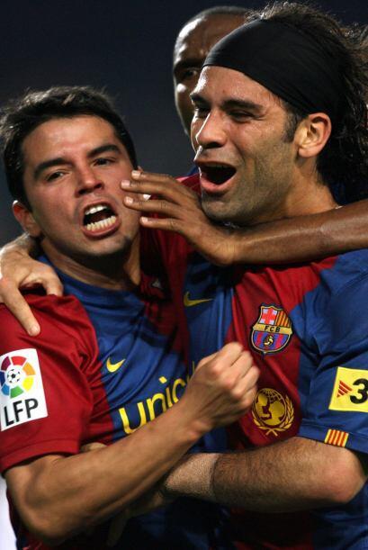 Convirtió algunos goles y tuvo de compañero a Javier ´El Conejo´ Saviola.