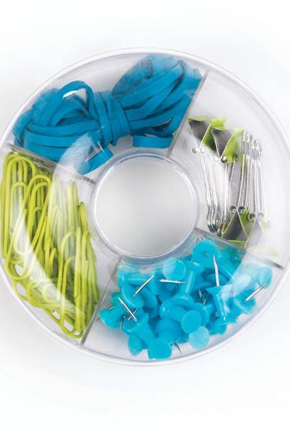 Los pequeños accesorios como 'clips', grapas, ligas y tachuelas estarán...