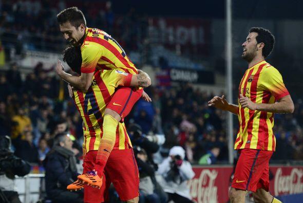 El mediocampista catalán colocaba el 4-2 a pase de Pedro.