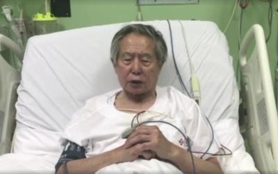 Imagen del video de Fujimori en el que pide perdón.
