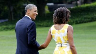 El presidente de EEUU inicia sus vacaciones en la isla de Martha's Viney...