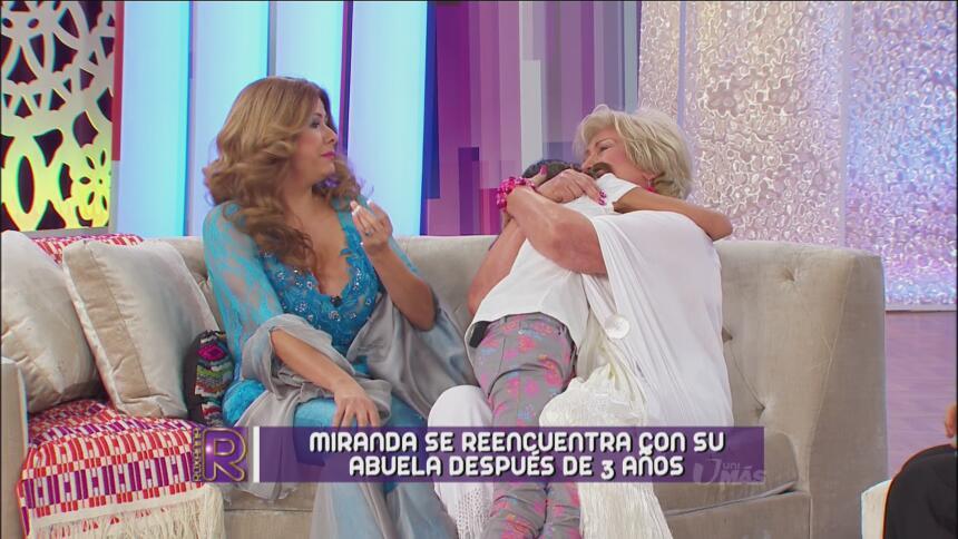 Miranda no dejaba de abrazar a su nieta.