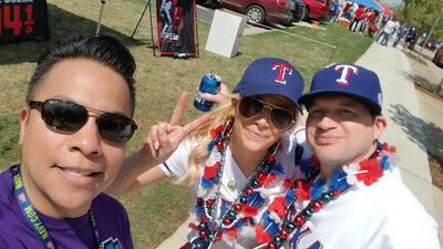 'Opening Day' de Los Texas Rangers