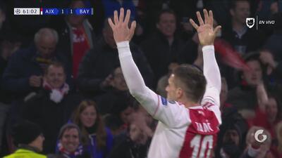 Lo empata el local: Dusan Tadic marca el empate del Ajax
