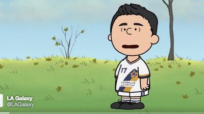 LA Galaxy Charlie Brown Sebastián Lletget caricatura