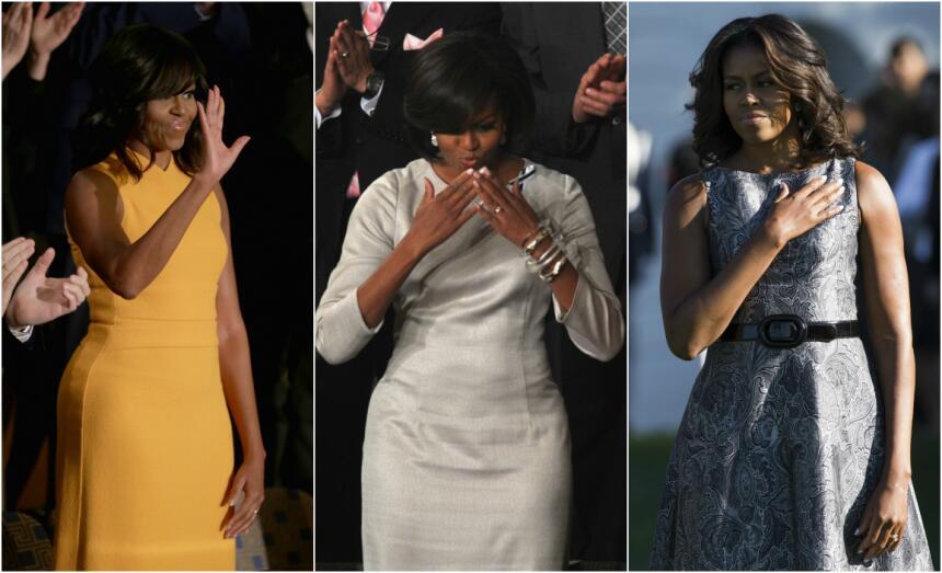 10 momentos de la moda de Michelle Obama Obama%20Collage.jpg