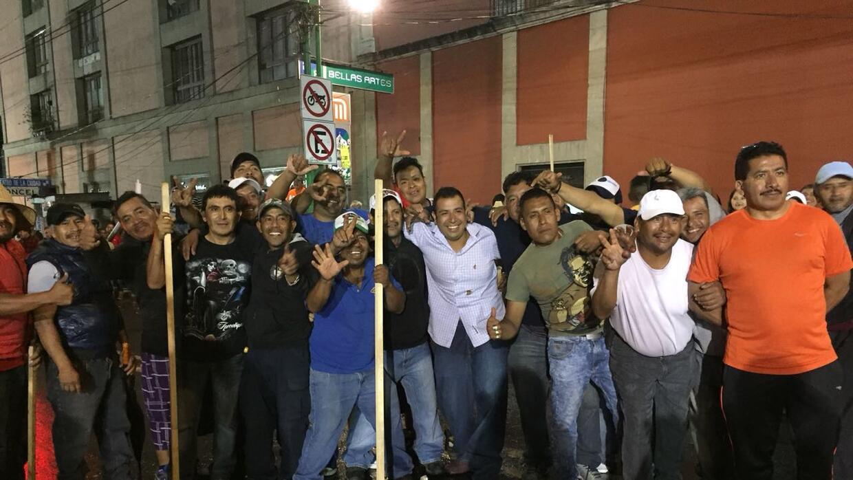 Empleados del sindicato de limpia pública también protestaron contra Lóp...