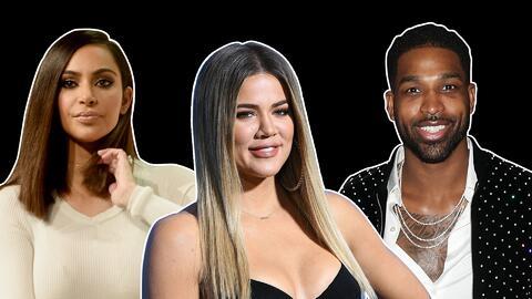 Khloé Kardashian, Kim Kardashian y Tristan Thompson
