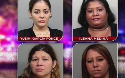 Revelan identidades de las mujeres detenidas en el operativo policial re...