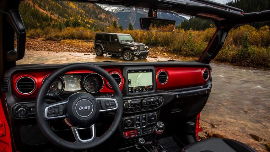 Estas son imágenes con detalles del Jeep Wrangler Rubicon 2018 jp018-214...
