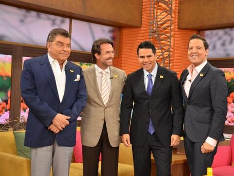 Lucero, César Conde, Fernando Landeros y Don Francisco llegaron a...