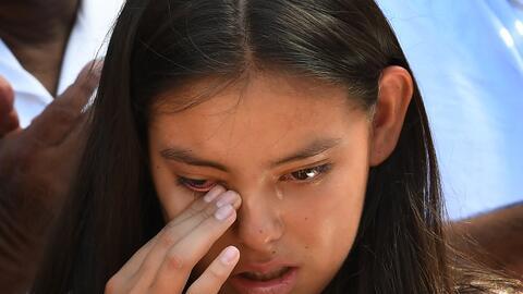 Yuleni Avelica, hija de Rómulo Avelica quien fue arrestado por of...