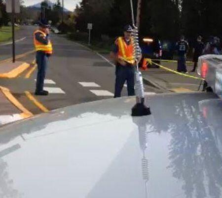 El cerco de las calles en los alrededores del colegio. (Imagen tomada de...
