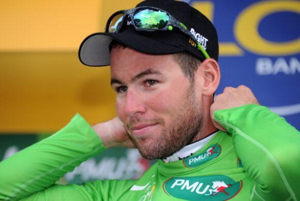 El maillot verde del mejor spinter fue para Mark Cavendish, quien ha gan...