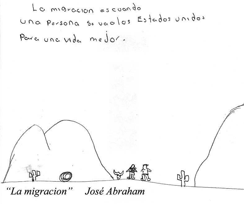 """""""La migración es cuando una persona se va a los Estados Unidos para..."""
