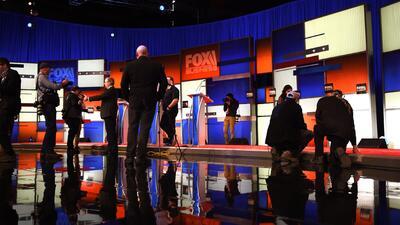 Escenario del sexto debate republicano