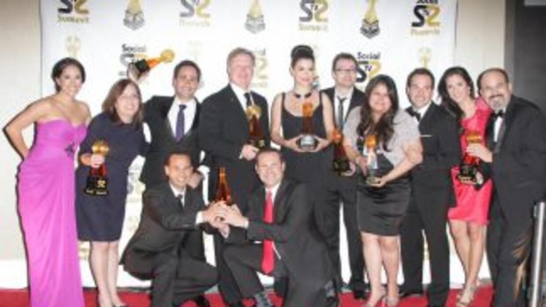 Univision ganador de ocho premios en los Latin Social TV Awards.