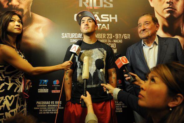Rios, de 27 años, un agresivo excampeón de los pesos ligeros apodado 'Ba...