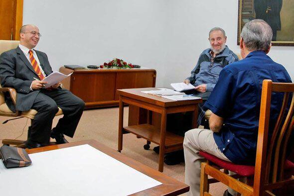 Durante el encuentro, Castro se mostró sonriente y relajado.