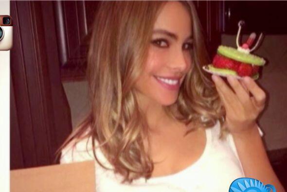 Sofía Vergara rompió la dieta en el día de su cumpleaños