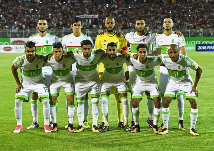 17. Argelia (CAF) - 1.602.989 seguidores.