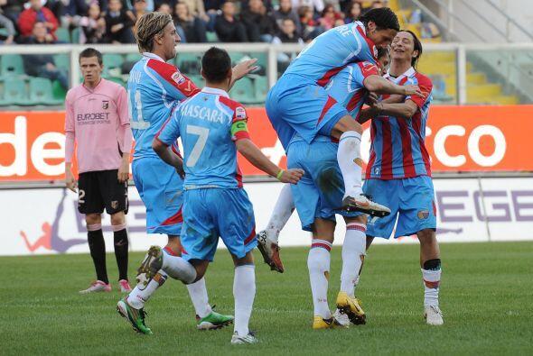 Hubo una pequeña reacción del Catania, pero no bastó.
