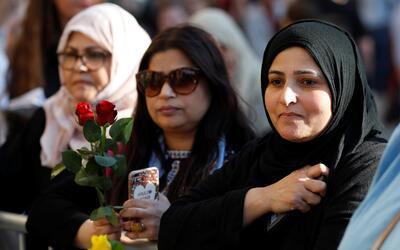 Los musulmanes estuvieron entre los dolientes en Manchester el martes de...
