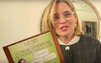 La alcaldesa de San Juan, Carmen Yulín Cruz, en The Late Show Wit...