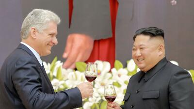 Kim Jong Un recibe en Pyongyang a Miguel Díaz-Canel mientras Corea del Norte amenaza con reanudar su programa nuclear