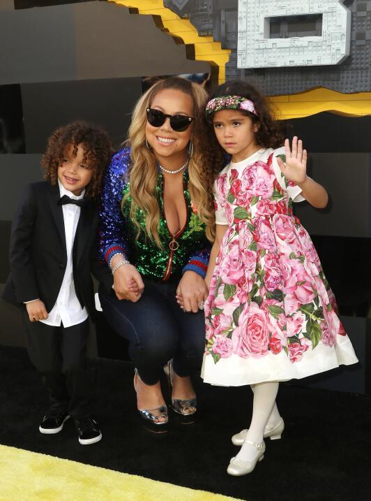 Mariah y sus hijos Moroccan y Monroe