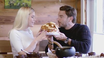 La comida fue la mejor excusa que encontró Julián Gil para enamorar a una joven rusa
