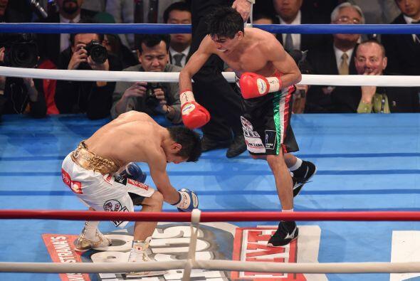 Un gancho al hígado puso al japonés de rodillas para darle el triunfo a...