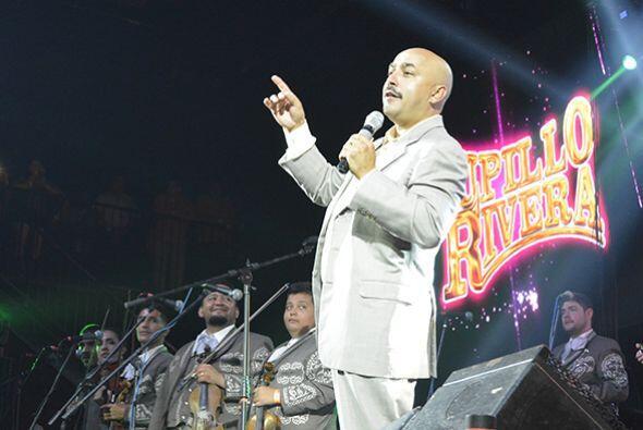 Por primera vez cantando con mariachi en Houston llegó Lupillo Rivera.Fo...