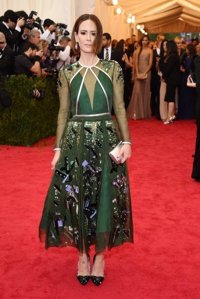 Por muy Prada que fuera el vestido de Sarah Paulson, no podemor decir qu...