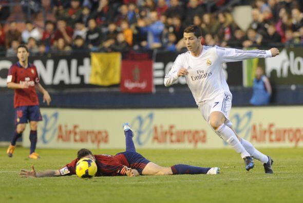 El Real Madrid empezó fuerte en su partido en El Sadar, sobre todo con t...