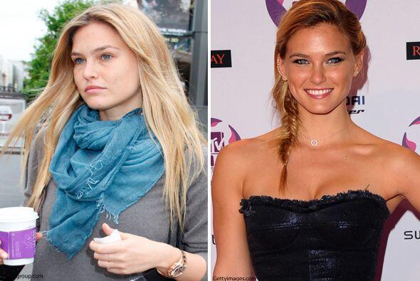 ¿Quién diría que una súper modelo como Bar Rafaeli necesita maquillaje?,...