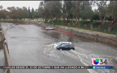 Riverside también vive el embate de El Niño