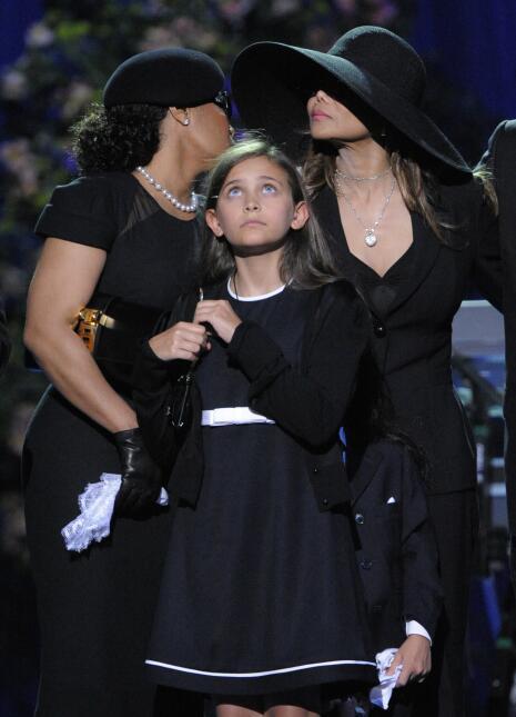En el funeral público de Michael Jackson, realizado el 7 de julio de 200...