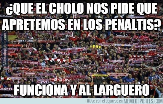 Atlético de Madrid accedió a los cuartos de final por la tanda de penale...