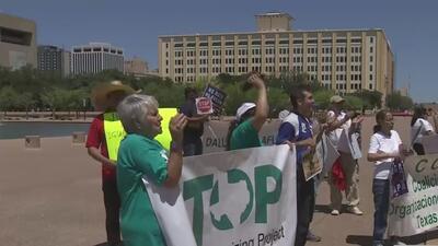 Sin pena ni gloria Marcha del 1 de Mayo en Dallas