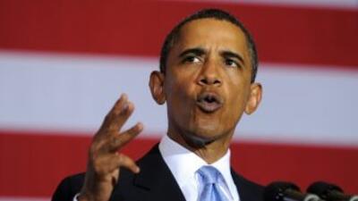 Obama habló ante el auditorio de Xavier University, en New Orleans.