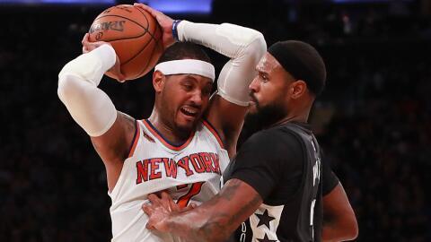 Carmelo Anthony encestó 14 de sus 22 puntos en el tercer cuarto.