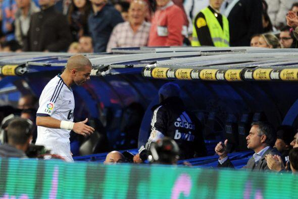 Pepe salió de cambio tras marcar el 4-1.
