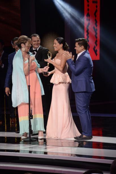 Fue uno de los momentos más especiales de la entrega de premios.