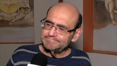 Edgar Vivar estuvo muy conmovido en la emotiva despedida a Rubén Aguirre